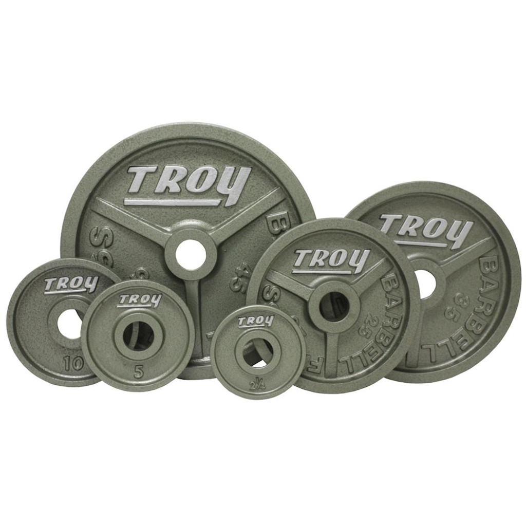 Troy Gray Wide Flange Olympic Plates