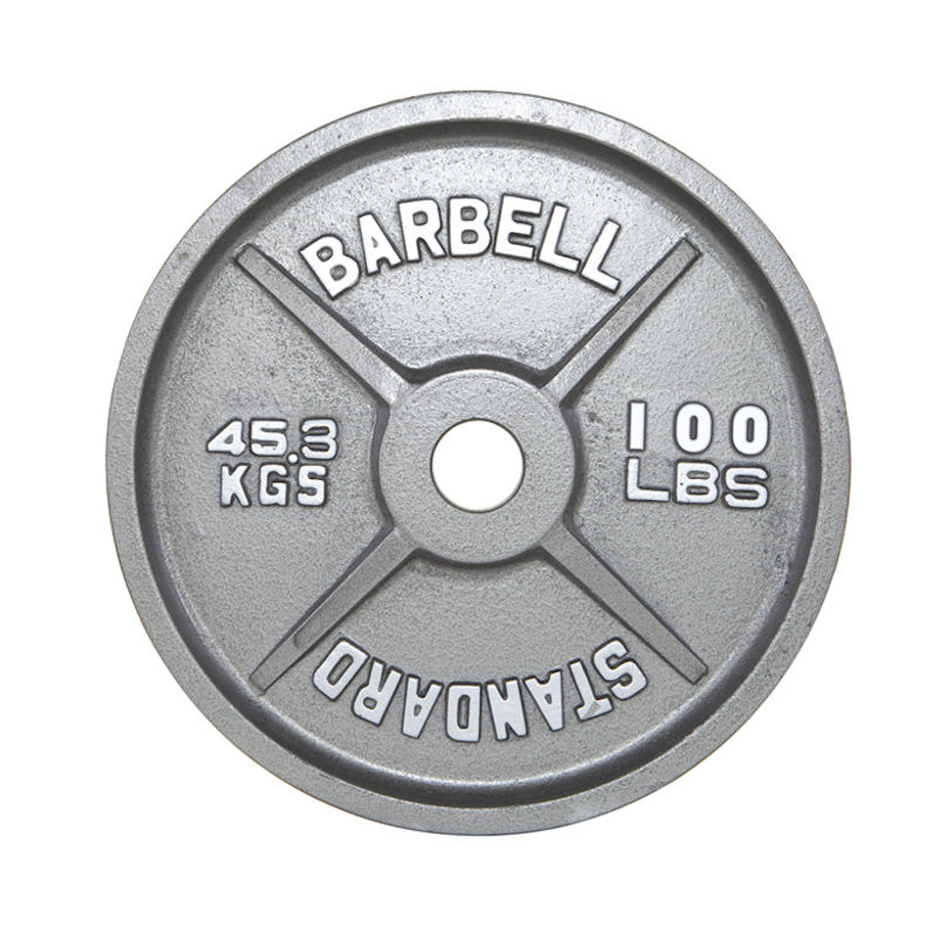 Troy USA Sports 100 lb. Standard Olympic Plate