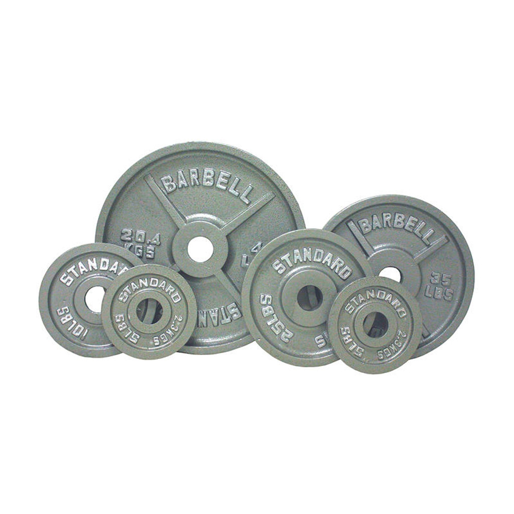 Troy USA Sports Gray Standard Olympic Plate Set