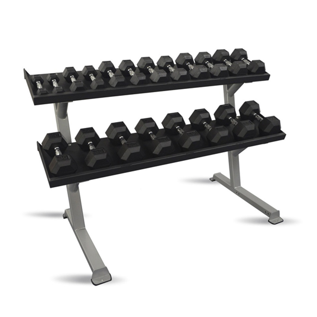 Inflight Commercial Two-Tier Dumbbell Rack