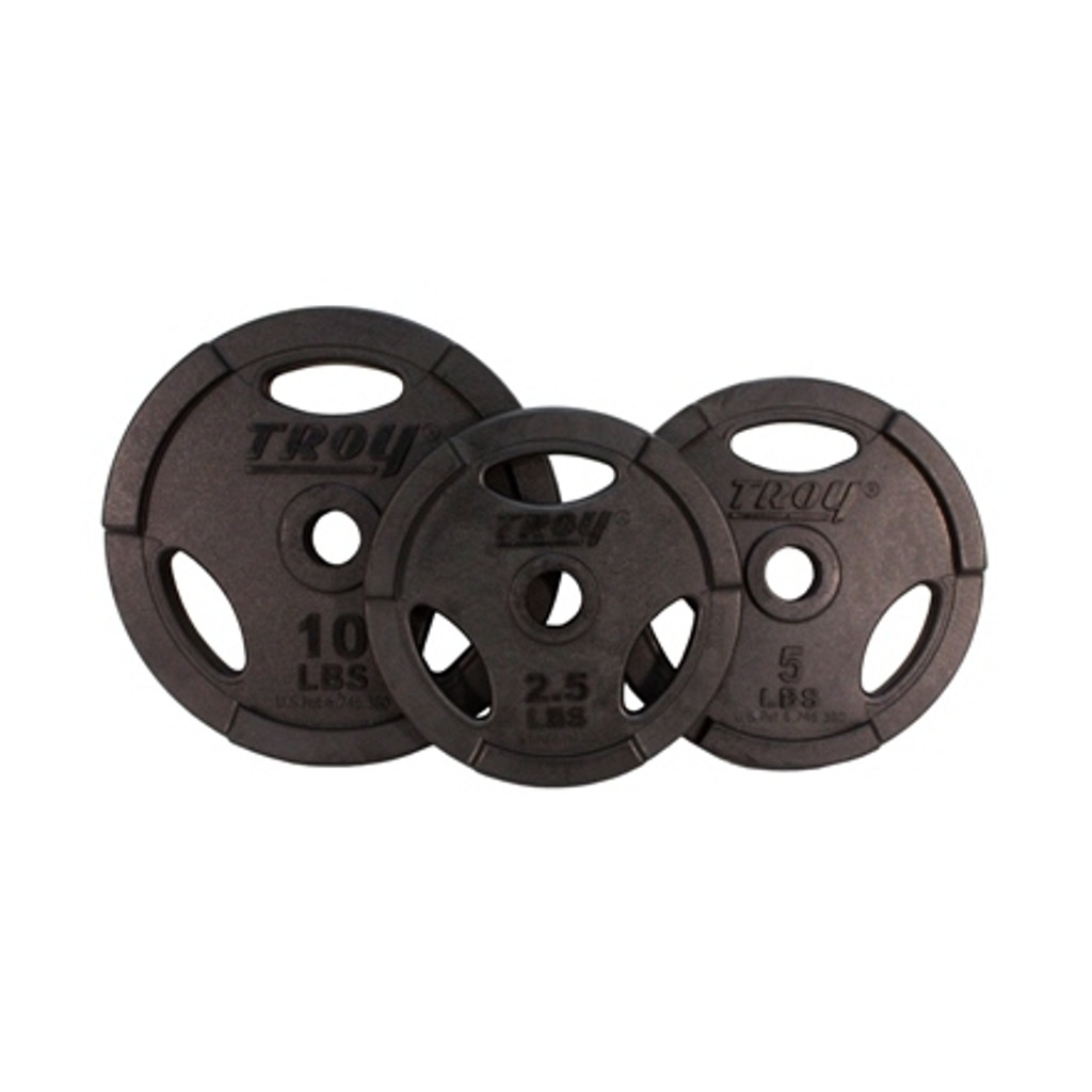 Troy Group Barbell Set Rubber Grip Plates