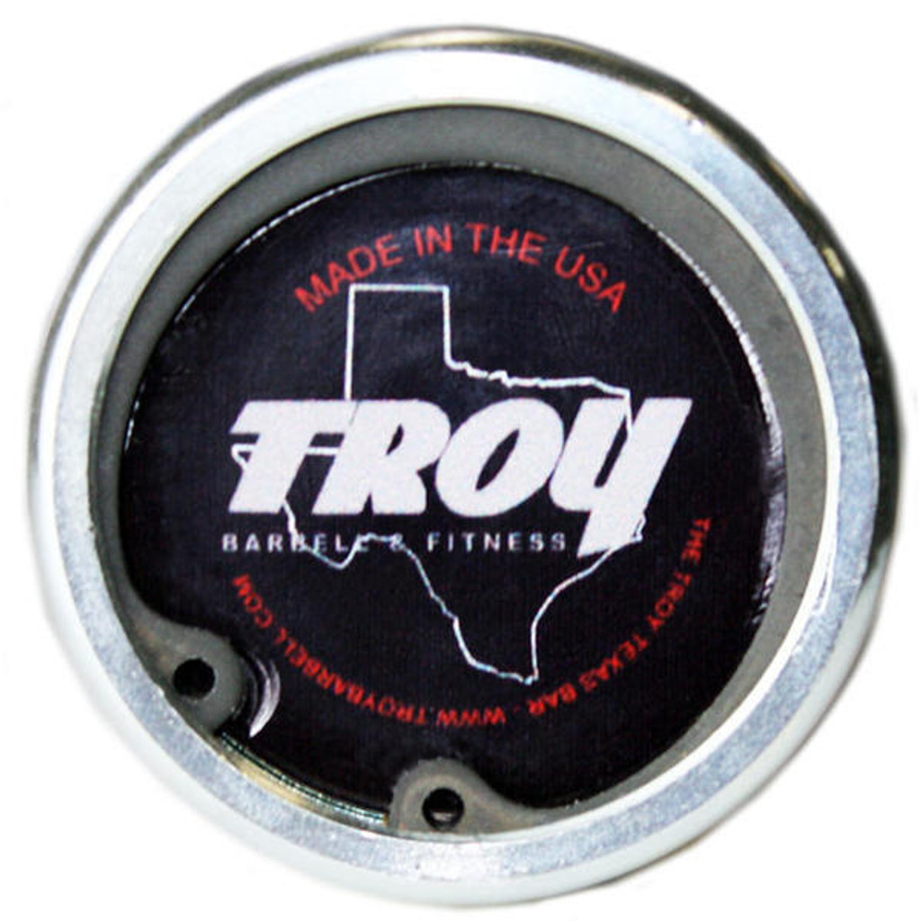 Troy Power Lifting Bar End View