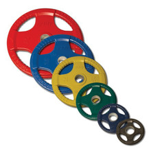 Rubber Encased Olympic Grip Plates - Colored - Body Solid