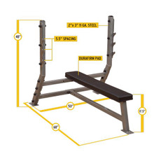 Body Solid Olympic Bench Dimensions