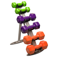 Body Solid Neoprene/Vinyl Dumbbell Rack
