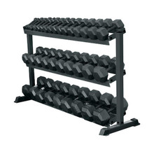 York Barbell 69127 Pro Hex 3-Tier Dumbbell Rack