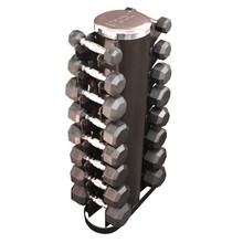 Troy VTX 3-25 lb. Rubber Dumbbell Set w/ Rack