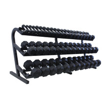 Troy VTX Rubber Encased Dumbbell Set with Storage Rack