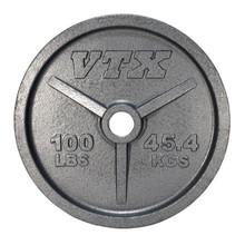 100 lb. Troy VTX Olympic Plate