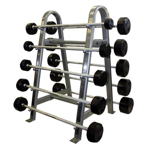 Troy 12-Sided Rubber Barbells w/ Rack