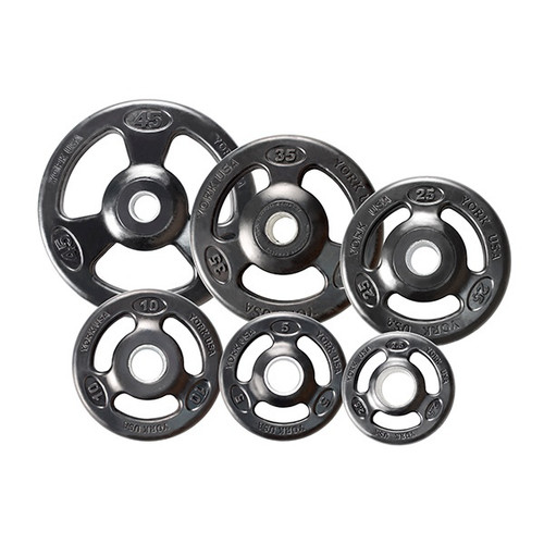 York Iso-Grip Rubber Coated Olympic Plates