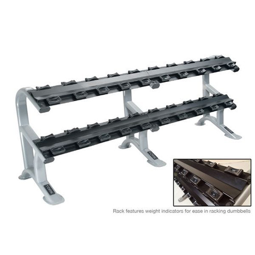 York 2-Tier Commercial Dumbbell Rack with Saddles