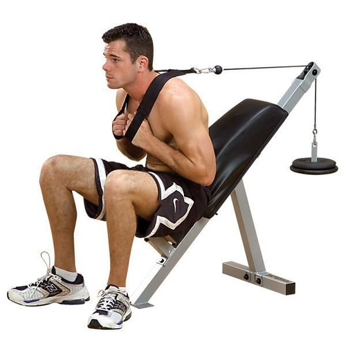 Body Solid Plate Loaded Ab Crunch Bench