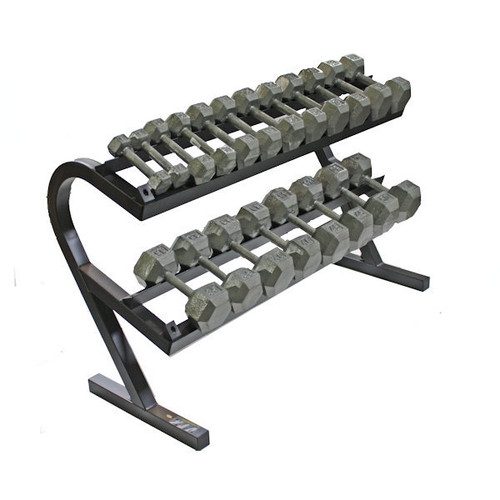 Troy Cast Iron Hex Dumbbell Set w/ Rack
