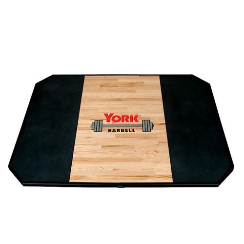York Barbell Solid Oak Weightlifting Platform
