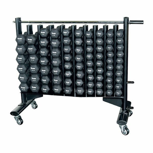 York Neoprene Covered Dumbbell Set with Rack