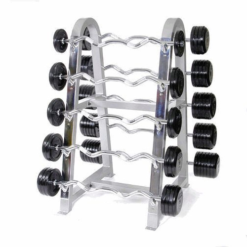 Troy Rubber Coated Barbells w/ Rack