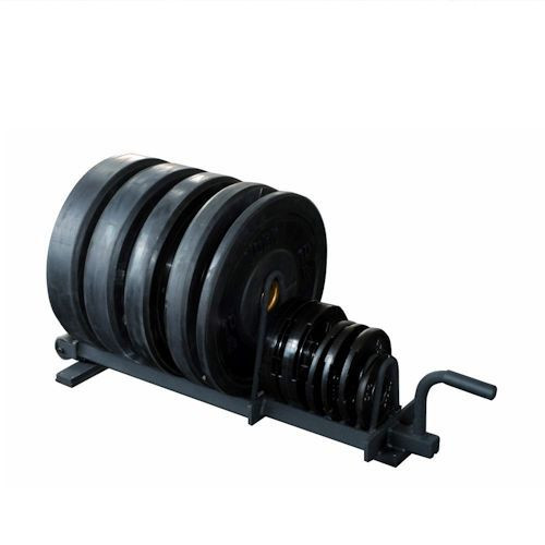 York Barbell Plate Storage Rack with Wheels