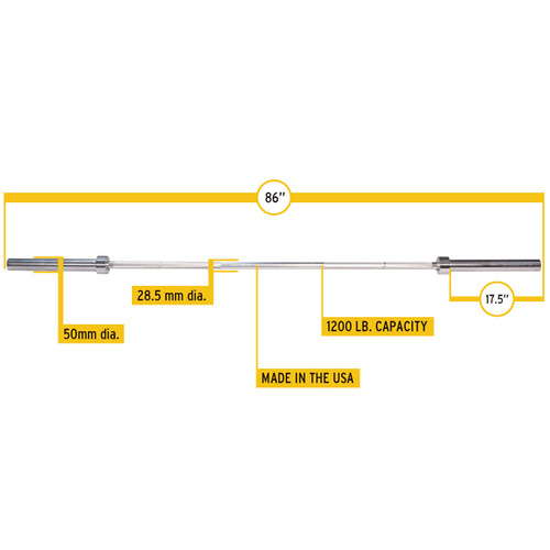 Commercial Weight Lifting Bar Dimensions