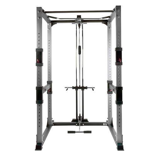 BodyCraft Workout Power Cage with Plate Load Lat Pull Option
