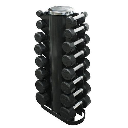 Troy TSD-R 3-25 lb Rubber Dumbbells w/ Rack