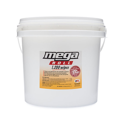 2XL Alcohol-Free Gym Wipes Mega Roll Bucket