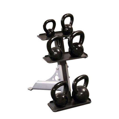 Body Solid 3-Pair Kettlebell Rack