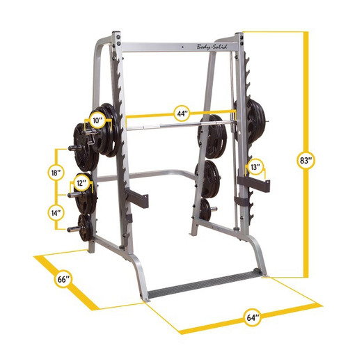 Body Solid Counterbalanced Smith Machine/Free Weight Rack Combo