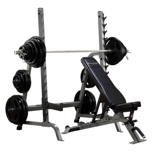 Body Solid (SDIB370) Workout Rack w/ Bench Combo