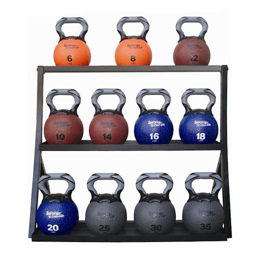 Aeromat 3-Tier Kettlebell Medicine Ball Storage Rack