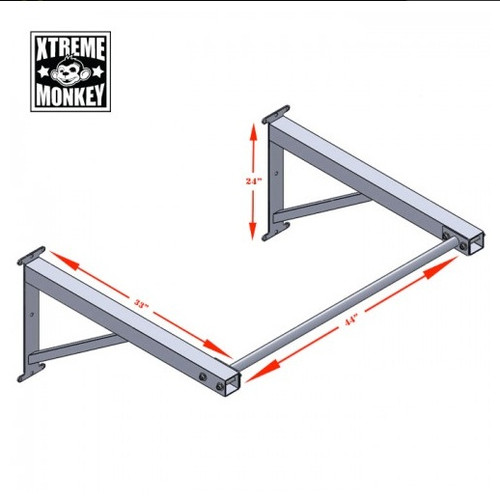 Xtreme Monkey Chin Up Bar Dimensions