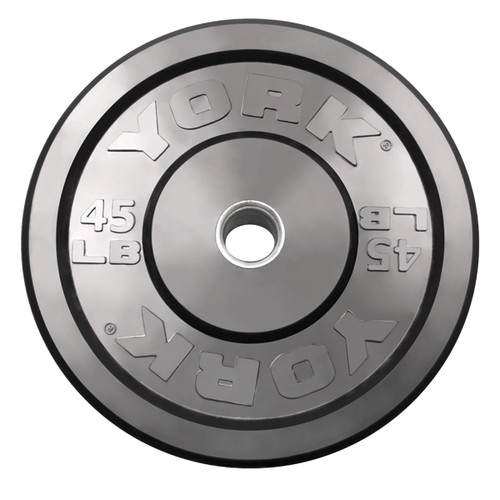 York Barbell 45 lb. Solid Rubber Bumper Plate