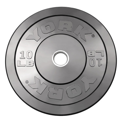 York 10 lb. Solid Rubber Gym Bumper Plate