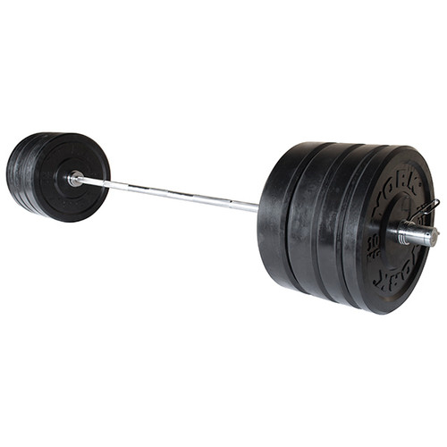York 275 lb Bumper Plate Set w/ Bar