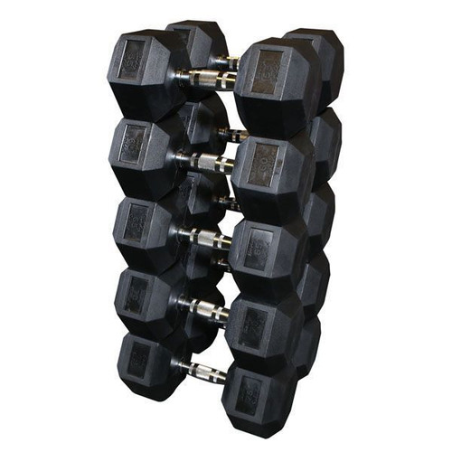 Body Solid Rubber Encased Hex Dumbbells
