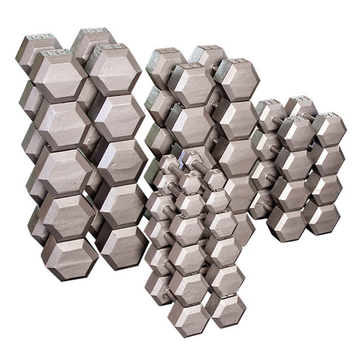 Body Solid SDS Cast Iron Hex Dumbbells