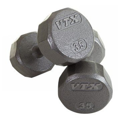 Troy VTX 12-Sided Cast Iron Dumbbells