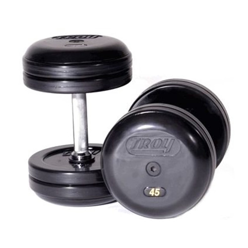 Troy Rubber Pro Style Dumbbells - Commercial