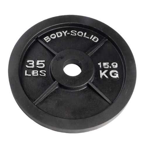 Body Solid 35 lb. Black Weight Plate