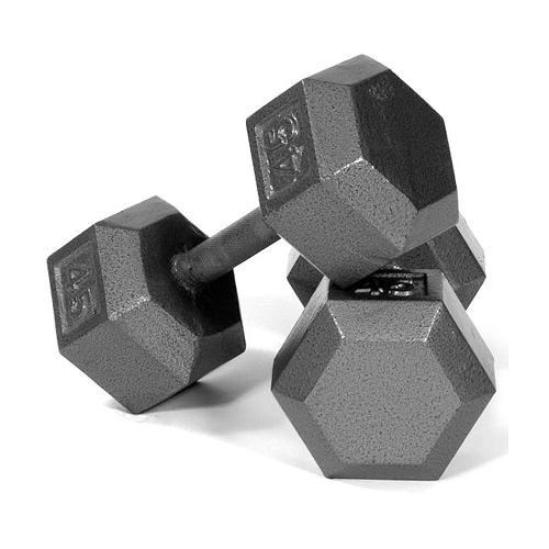 Troy USA Sports Cast Iron Hex Dumbbells