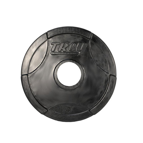 Troy 5 lb. Rubber Olympic Weight Plate