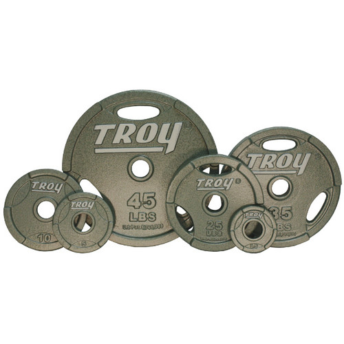 Troy Cast Iron Olympic Grip Plates