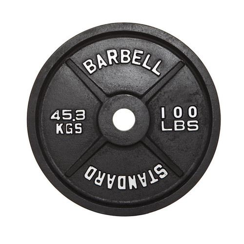 Troy USA Sports 100 lb. Black Cast Iron Weight Plate