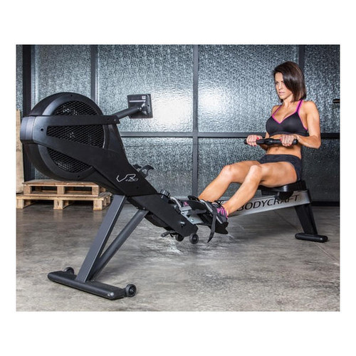 BodyCraft Pro Rower Pictured with Female User
