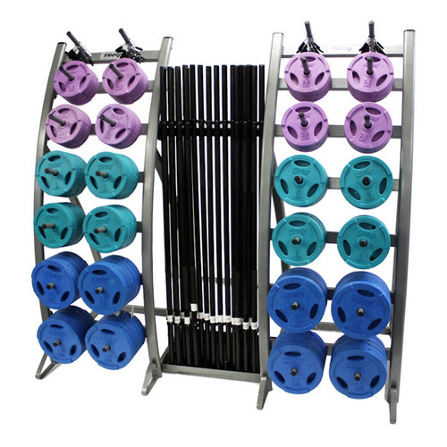 Troy Colored Plate Cardio Barbell Set