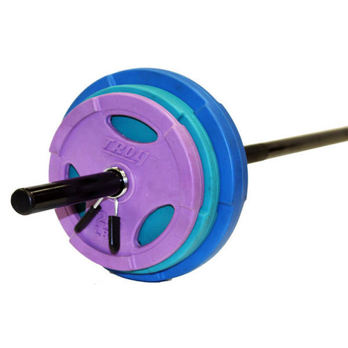 Troy 40 lb. Color Group Cardio Barbell Set