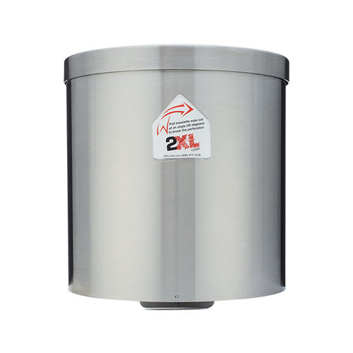 2XL-70 Stainless Steel Gym Wipes Wall Dispenser