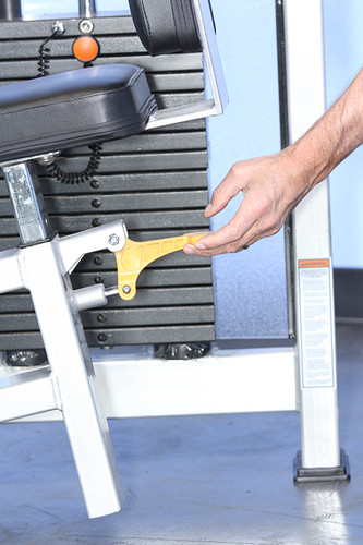 MuscleD Arm Weight Stack Machine Seat Adjustment