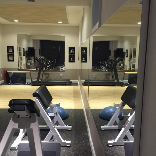 Living Room Mirrors Gym Wall: Glassless Gym Wall Mounted Mirrors