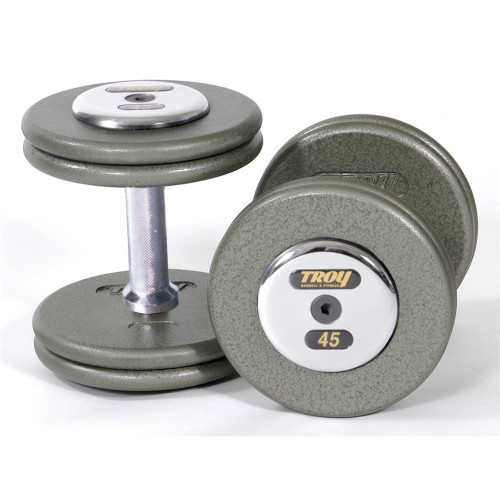 Troy Commercial Pro Style Dumbbells with Chrome End Caps